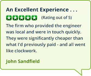 Reviews from customers in Barrow Hill and Whittington who booked a boiler repair with MyBoilerService