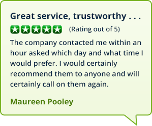 Testimonials from customers in Amesbury who booked an oil boiler service with MyBoilerService