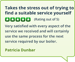 Testimonials from customers in Airth who booked a gas boiler service with MyBoilerService